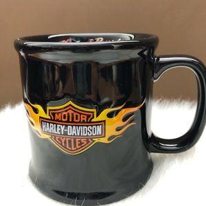 Harley-Davidson Black Embossed Logo Coffee Mug
